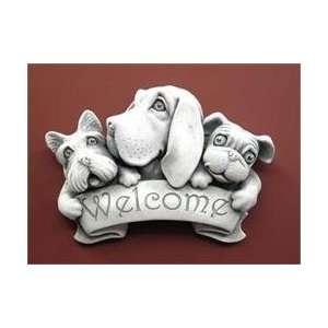 Custom Made   Hand Cast Stone Triple Dog Dare Welcome