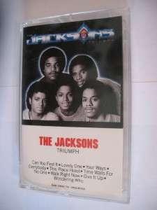 The Jacksons Triumph Album on Vintage Cassette