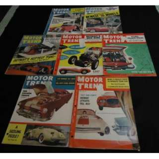 LOT 1954 MOTOR TREND Car Magazines RACING HOT RODS