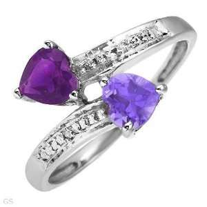 White Gold Diamond Ring with Amethyst Sapphire: Everything