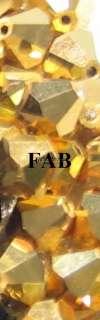Swarovski Crystal Bicone 5301 5MM Gold Aurum (20 Beads)