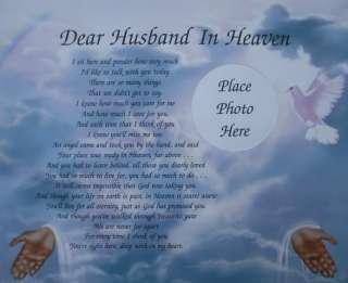 Dear Husband In Heaven In Loving Memory Memorial Verse