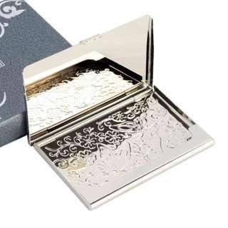 Pearl Turtle Design Metal Business Credit Name Card Holder Case Wallet