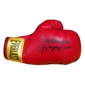 Jake LaMotta Raging Bull Autographed Boxing Glove