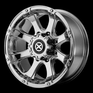 AX188 17X8 CHROM 6 LUG/ 8 LUG FORD CHEVY WHEELS
