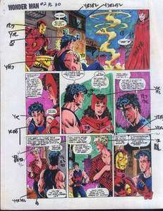 COMIC BOOK COLOR GUIDE ART 2 PAGE 30 AVENGERS/IRON MAN +