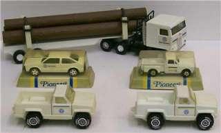 ERTL Bell System Trucks Car Semi Tractor & Trailer w/Logs/Poles