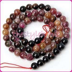 6mm Genuine Tourmaline Round Gemstone Loose Beads 15.5