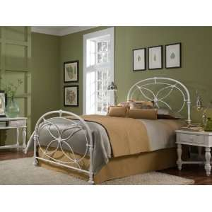 Chantilly Bed With Frame in Glossy White Finish   Full: Home & Kitchen