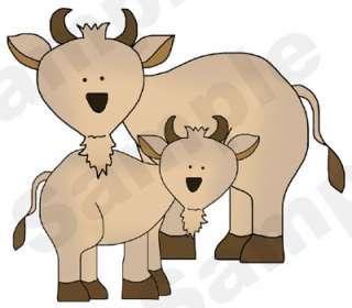 BARNYARD FARM COW MURAL NURSERY BABY WALL STICKER DECAL