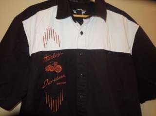 Davidson Black Button Down Short Sleeve Collared Shirt Size 2XL