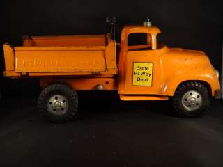 DEPT HIGHWAY DEPARTMENT ORANGE TONKA HYDRAULIC SIDE DUMP TRUCK
