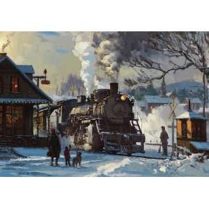 National Railroad Museum Winter Train Scene Christmas Card