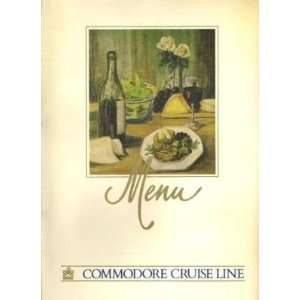 Commodore Cruise Line Dinner Menu 1980s Everything Else
