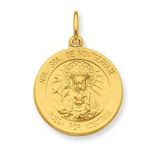 Silver & 24k Gold  plated Our Lady of Puerto Rico Medal Jewelry