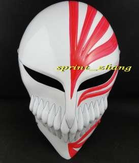 Bleach Ichigo Kurosaki Bankai Cosplay Full Mask red