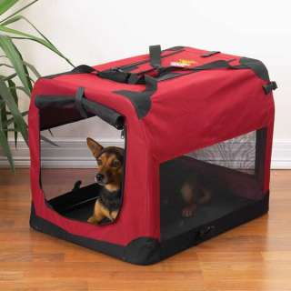 GUARDIAN GEAR LIGHTWEIGHT SOFT SIDED RED DOG CRATE NEW