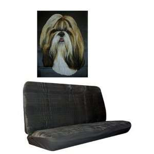 Car Truck SUV Shih Tzu Dog Print Rear Bench or Small Truck Seat Covers