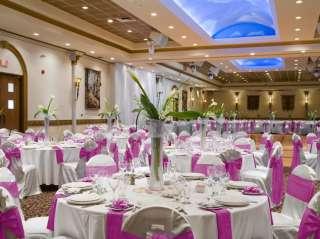 50 Fuchsia Hot Pink Satin Chair Covers Sash Bow Wedding