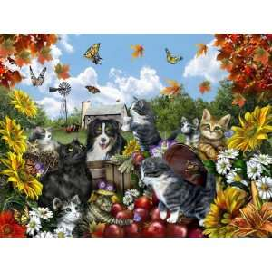 Doggie Delight   300 Piece Large Format Puzzle Toys & Games