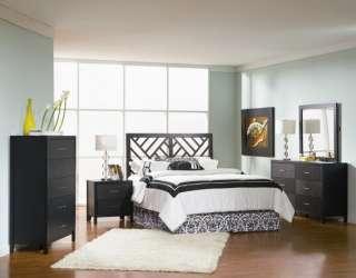 Grove Sleek Black Wood Finish Queen/Full Headboard Bedroom Set