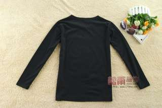 Fashion Black Women Long Sleeve Causal T Shirt TOP M