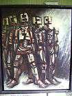 CHAMPEAUX 1917 1978 belle huile sur toile cubiste, beau tableau
