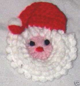 Jewelry 3.5 Red White Crochet Santa Clause Pin