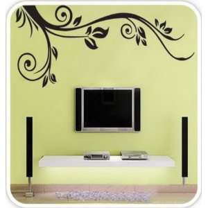 Black Vine Hanging Wall Decor  Loft 520 Home Decor Vinyl Mural Art