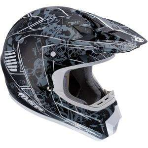 MSR Racing Velocity X Helmet   2010   2X Large/White/Black: Automotive