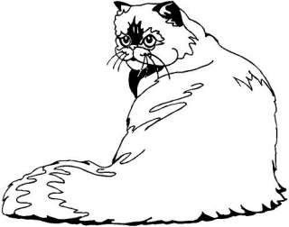 Himalayan Cat Vinyl Decal Car Truck Boat Sticker