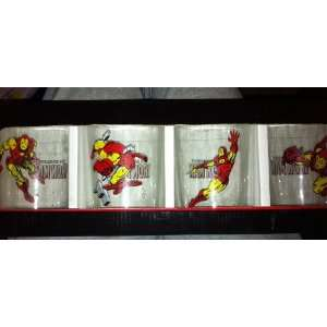 The Invincible Iron Man Set of 4 Different 12 Fl. Oz. Short Tumblers