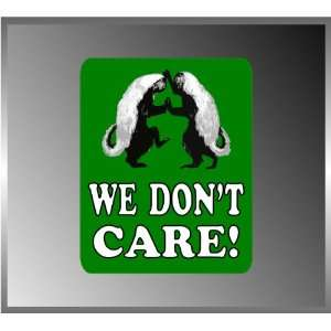 Dancing Honey Badgers We Dont Care Funny Vinyl Decal Bumper Sticker 4