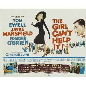 The Girl Cant Help It Poster Movie Half Sheet 22 x 28