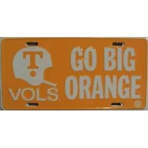 of Tennessee Go Big Orange NCAA License Plate
