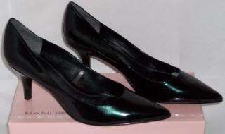 WOMENS SHOES 9.5 M BLACK HEELS Bandolino Inlet BLACK PATENT