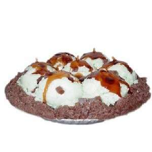 9 Inch Chocolate Chip Mint Ice Cream Pie Candle Home & Kitchen