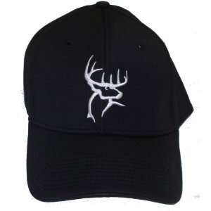 Buck Commander ~ Black Aflex Fitted ~ Deer Hunting HAT: