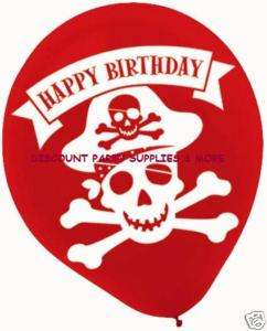 Pirates Happy Birthday Party Latex Balloons Supplies