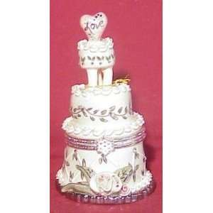 Silver Wedding Cake Box   Blue Sky & Clayworks