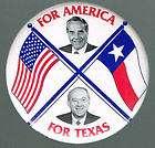 1996 BOB DOLE & TEXAS SENATOR PHIL GRAMM PIN, POLITICAL PINBACK BUTTON