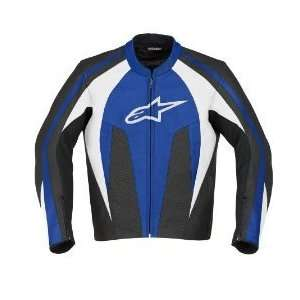 Alpinestars Stunt Leather Jacket Blue
