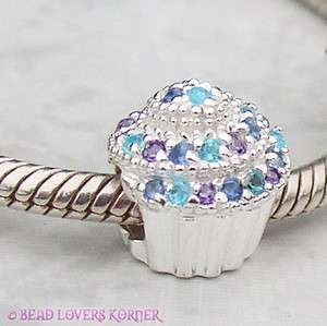 Couture Cz Bead Colors Carlo Biagi .925 Sterling Silver Fits All