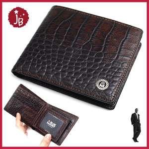 New Mens Dark Brown Bifold Leather Wallet purse Stylish
