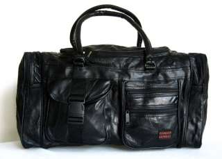 21 Leather Duffel Tote Bag Luggage Purse Travel Case