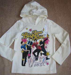 BIG TIME RUSH   Cream Hoodie Sweater Shirt sz 6/6x