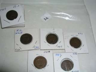 10) COIN LOT TEN LITTLE INDIAN HEAD PENNYS, CENTS LOT 3a