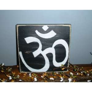 NAMASTE YOGA SYMBOL OM Shabby CUSTOM Chic Home Decor Wood Sign CHOOSE