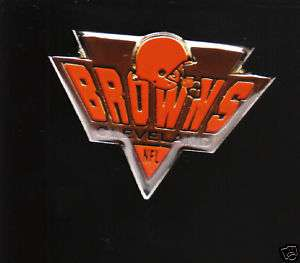 CLEVELAND BROWNS NFL TEAM LOGO LAPEL PIN NEW Metal