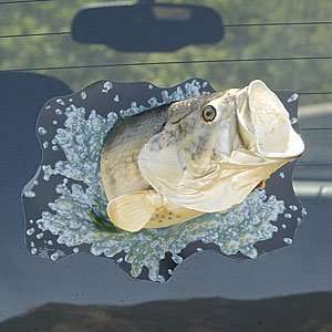 Fathers Day Gifts 3 d Window Shatter Cling   Bass